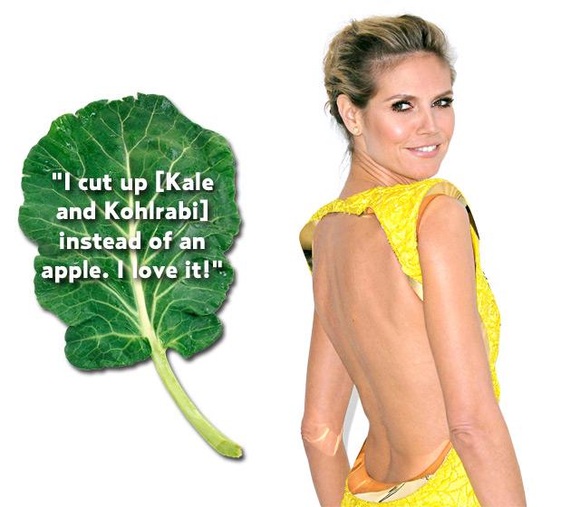 Heidi Klum posant pour du kale. Vous imaginez vous Sophie Marceau vantant le brocoli ?