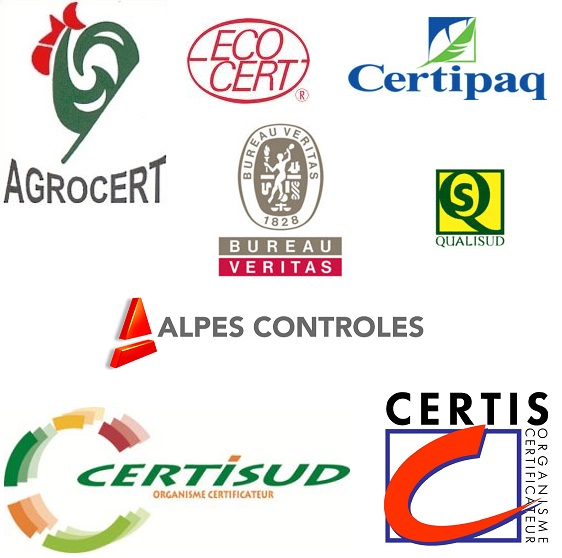 Les huit organismes certificateurs Français