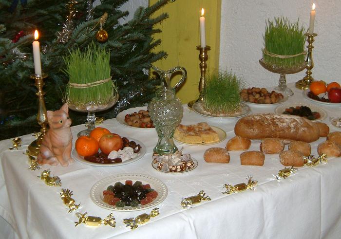 Table homologuée de gros souper (au moment du dessert)
