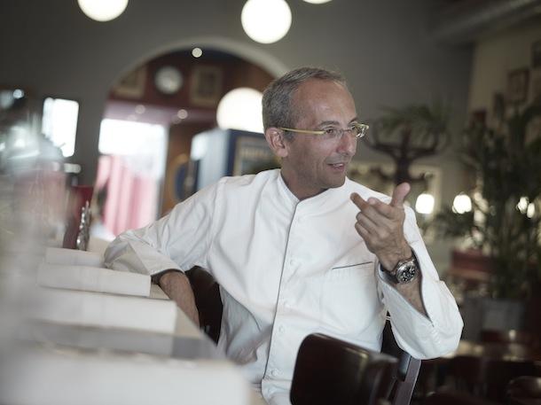 Le chef Michel Portos dans son restaurant Le Malthazar.