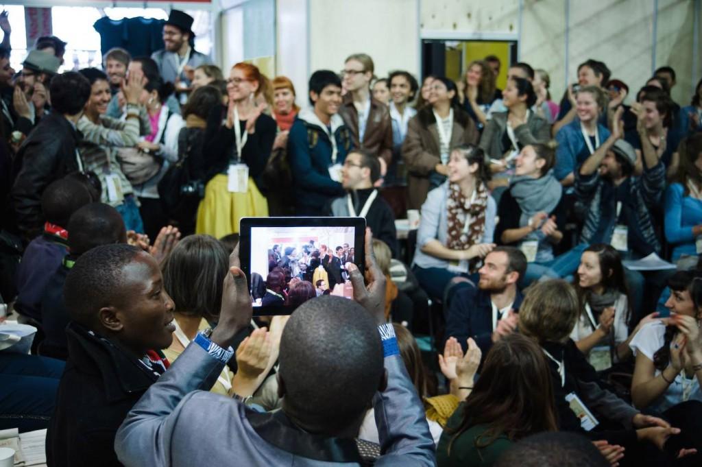 Réunion de jeunes du monde entier à Turin. ©Elisabeth Lanz