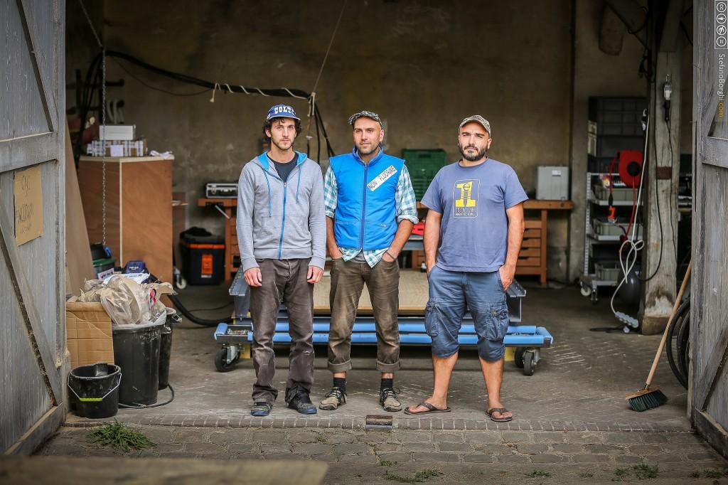 De gauche à droite Matthieu, Jean-Pierre et Damien.