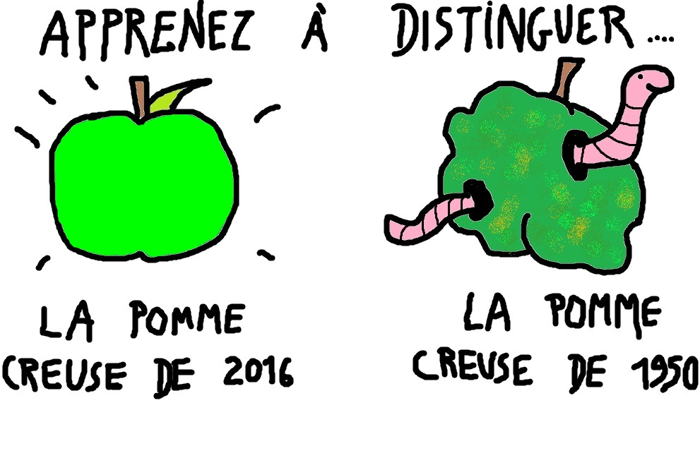 Pomme creuse.