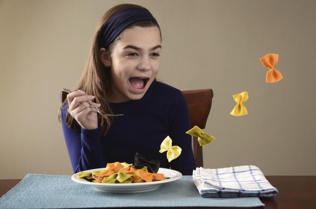 Là c'est Odile avant. Avant quand elle pouvait manger librement.