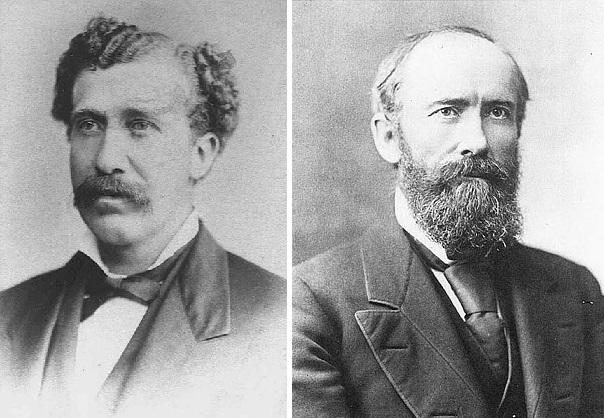 Dunham (à gauche) et Sanders (à droite), les principaux instigateurs de la création des Sociétés percheronnes américaines et françaises.