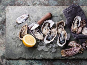 Huîtres, citron, bassin d'Arcachon...